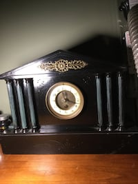 black wooden cased mantle clock Kitchener, N2P