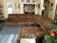 brown suede sectional couch with ottoman Las Vegas, 89178