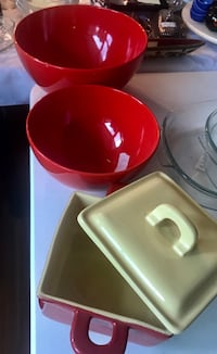 red and white ceramic bowls Falls Church, 22042