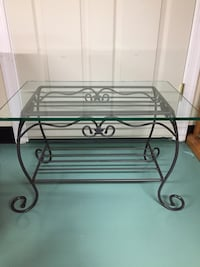 Longaburger glass top coffee table Greencastle