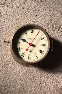 Quartz brass ship clock
