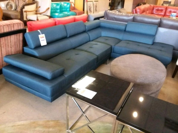 Blue sectional sofa on sale