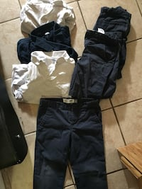 School clothes / uniform $35 for all or $5/ piece.