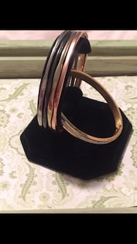 Stainless steel bangle bracelets. Los Angeles, 90731