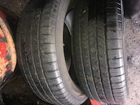 Two black auto tire set Tysons