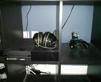 Xbox one, with charger and turtle beach headphones