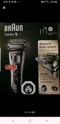 ● X BEST Braun series 9 like new with cleaning station!  shaver razor
