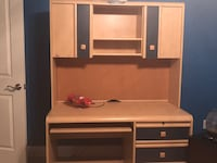 brown wooden computer desk with hutch including a twin sized bed and a dresser  Fall River, 02721