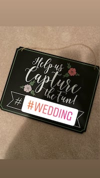Hashtag your wedding sign Barrie, L4N 1A2