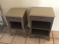 Two plum & gray wooden side tables Fountain Hills, 85268