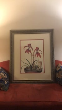 two brown wooden framed painting of flowers Bethesda, 20814