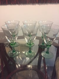 Six Beautiful Wine Glasses with Green Stems Lacey, 98503