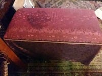 red and brown floral ottoman 787 mi