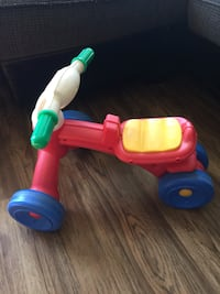 Toddler's red and yellow trike