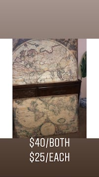 Large Canvas and Wood Maps!  Orlando, 32820