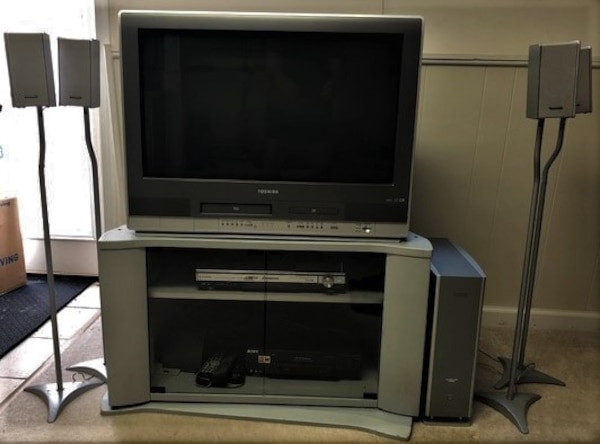 "Toshiba TV 30"" with built-in DVD and VHS and Panasonic Surround Sound"