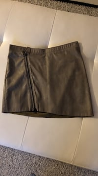 Tiger of Sweden gray leather miniskirt