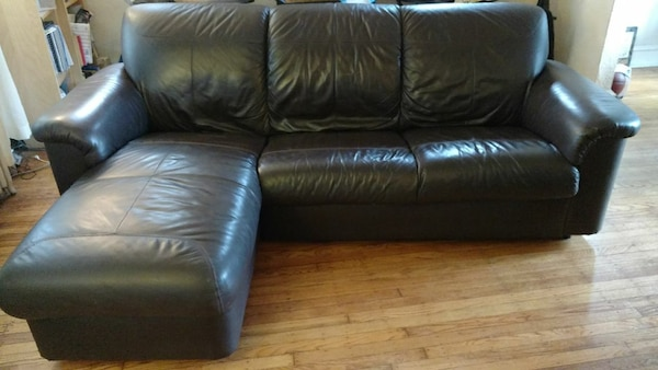 Ikea Dark Brown Leather Sectional Sofa