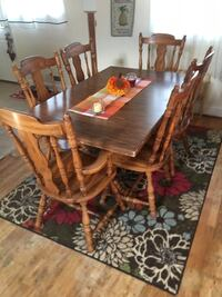 rectangular brown wooden table with six chairs dining set Dover, 07801