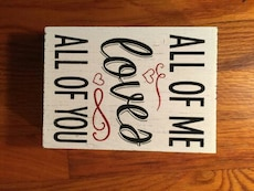 white and black all of me loves all of you wall decoration