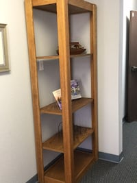 brown wooden framed glass display cabinet Carlsbad, 92011