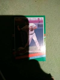 white and black baseball trading card River Rouge, 48218