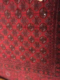 "Afghan mauri Red, black, and white area rug 76""x112"" Fairfax, 22033"