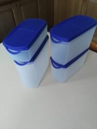 Set 4 contenitori da dispensa tupperware nuovi Roma, 00132