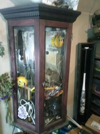 Custom Armoir,Display Enclosed Shelf..good condition