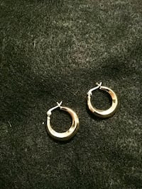 Gold over Sterling silver small hoops Mauldin, 29662