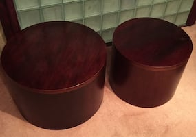 Cherry Wood Round Tables (Small and Large)