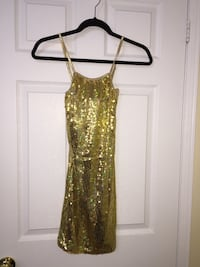 Gold sequins spaghetti strap slip dress Toronto, M6K 0A7