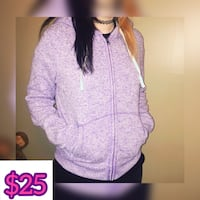Women's pink zip-up hoodie