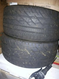 two black rubber car tires 1310 km