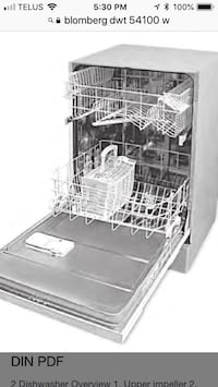 Blomberg white dishwasher  536 km