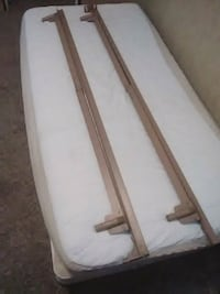 Box spring and mattress with metal frame  Lexington