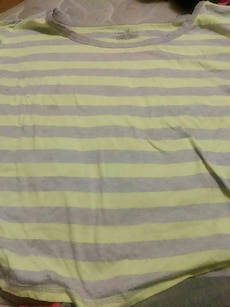 Yellow and Gray Striped T-Shirt