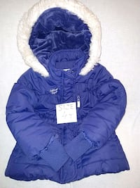blue zip-up bubble jacket 54 km