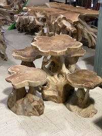 Teak Root Table Set HALNDLE BCH, 33009