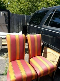 two red and yellow fabric sofa chairs Alpharetta, 30009
