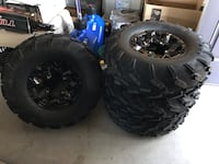 Stock tires and wheels for canam maverick trail front 26x8x12 rear 26x9x12 38 miles on it Henderson, 89015