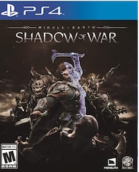 Middle Earth Shadow of War for Playstation 4 (Standard Edition) Toronto, M5M 1Y4