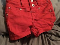 Justice pair shorts size 7 for kids Helotes, 78023