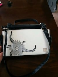 white and black leather tote bag Edmonton, T6E 0P3