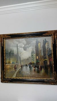 R.BRANT original oil on canvas cityscape painting  Martinez, 94553