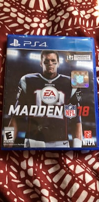 Madden NFL 18 PS4 game case Los Angeles, 90044