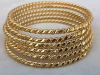 Gold plated bangles set  Surrey, V3X 1P3