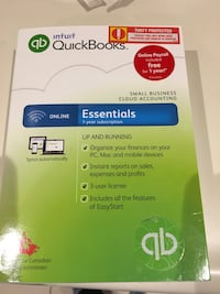 Quickbooks Small Business Accounting never used. Retail 99.99 Mississauga, L5C 1G2