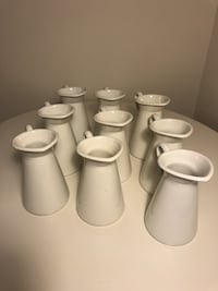 IKEA Large White Jugs (set of 9) null