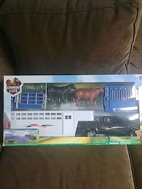 Toy Pickup Truck, Trailer, and Farm Animals - New in Box
